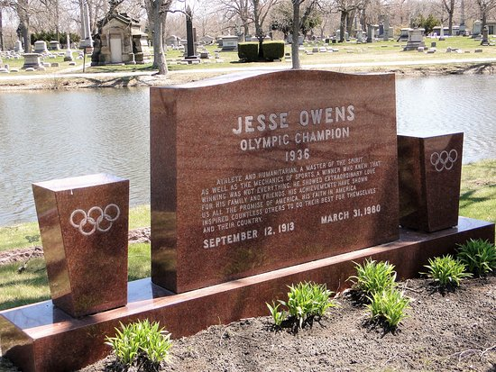 Oak Woods Cemetery: Jesse Owens, Olympic Champion