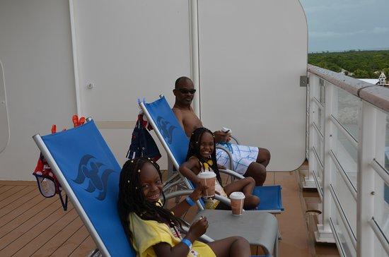 Castaway Cay: Hot chocolate on balcony