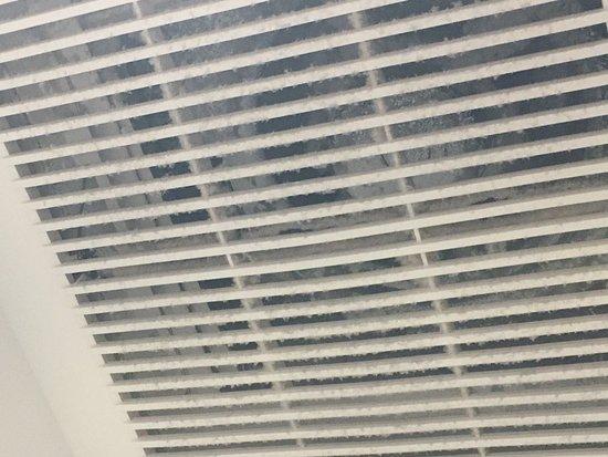 Le Bon Hotel: Poeira acumulada no exaustor do banheiro