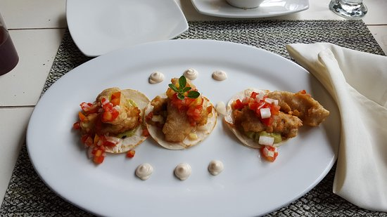 Finca Lerida: These are the fish tacos. Very good!