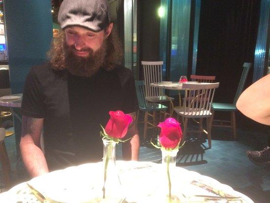 Tickets : Dessert rose spheres.