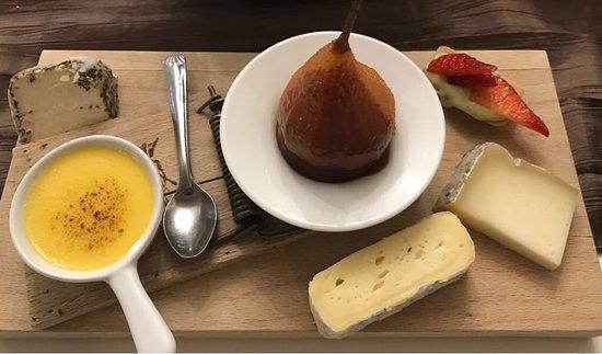 La Maison de Nany: Gemischte Nachspeise, Dessert und Käse. Man beachte die Dekoration 😉