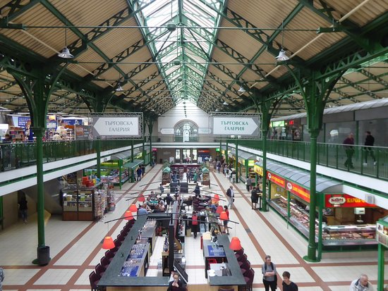 The view from the first floor of the Central Market Hall (Tsentralni Hali) in Sofia