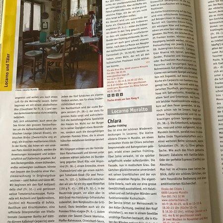 Muralto, Sveits: ristorante Osteria Chiara
