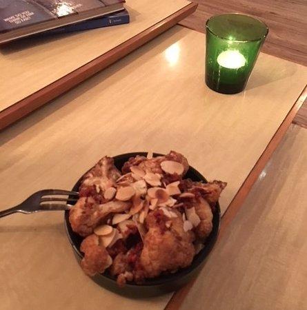 Treehouse Tapas and Wine Bar: Deep Fried Cauliflower with Almond and Chorizo Bits