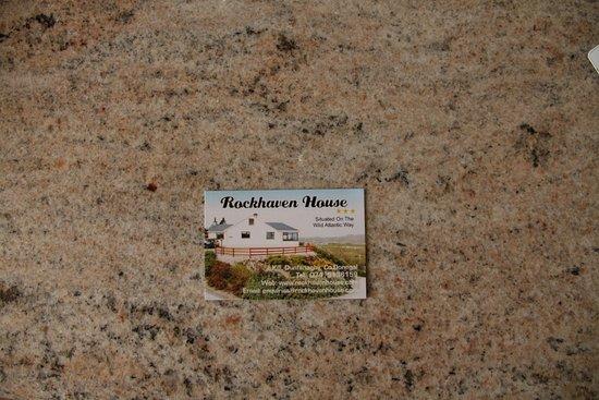 Rockhaven House: Business Card of Rockhaven