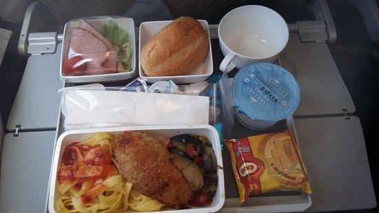 Singapore Airlines: ужин