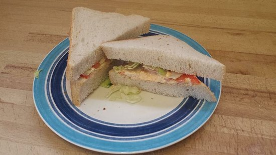The Green Tree Cafe : Wow! Doorstop sandwiches😊