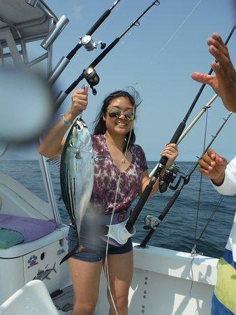 Puerto Vallarta Fishing: Nice sized Aku /Kawakawa (note the stripe locations and the spots), but with a short dorsal