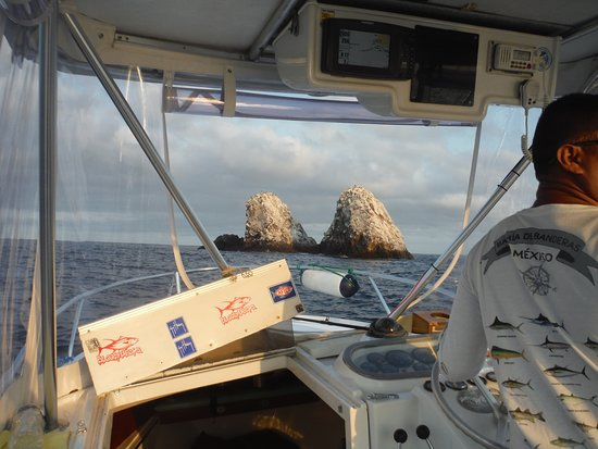 Puerto Vallarta Fishing: Rocks near the Marietas