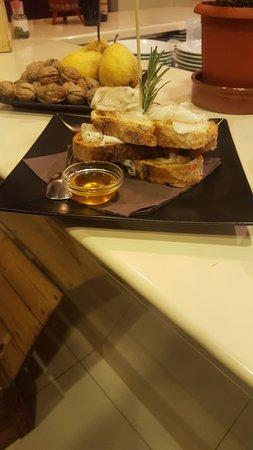 Antica Birreria : Lardo aromatizzato,pepe e miele...