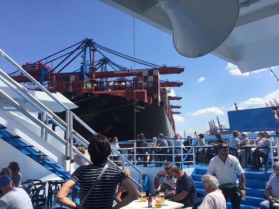 Rainer Abicht Elbreederei : An Deck der Hafenrundfahrtschiffe