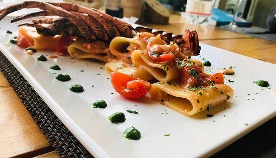 Ristorante Il Cavallino: paccheri with lobster sauce