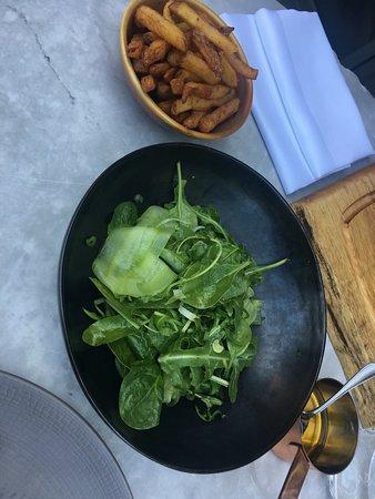 M Chips + Spinach & Rocket salad