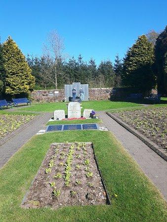 Lockerbie, UK: Garden of remembrance and air disaster memorial