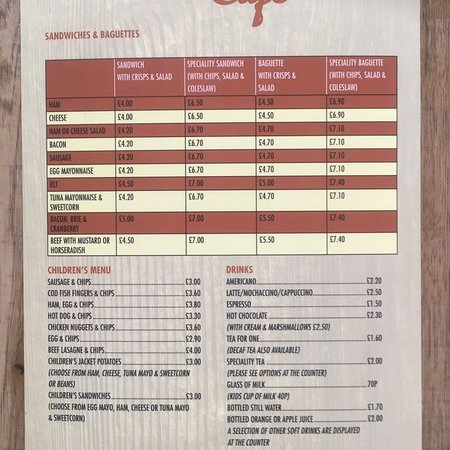 Llangorse, UK: 2018 Menus