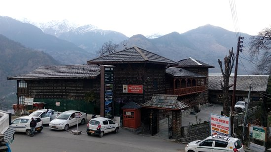 At the entrance of Naggar Castle