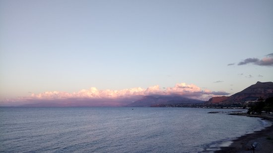 La Casa sull'Acqua: coucher de soleil vue de la terrasse