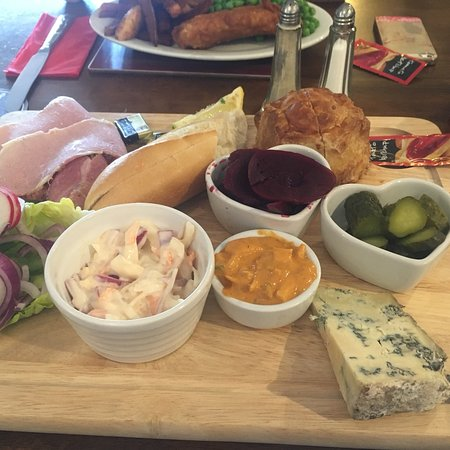 The Miners Arms Swarthmoor : Cold platter off super 7 menu. Perfect