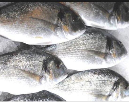 Kaliviani, Kreikka: fresh fish with potatoes and salad