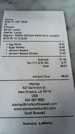 Stanley: Invoice