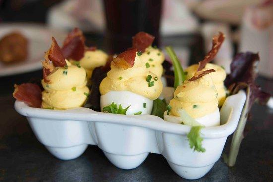 Chef Art Smith's Homecomin': Church Lady Deviled Eggs: so delicious!!!
