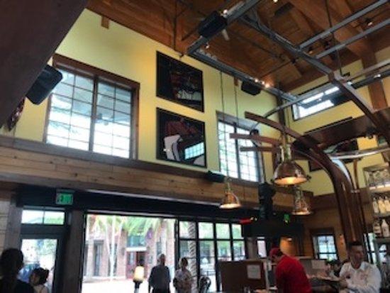 Huge inside the restaurant