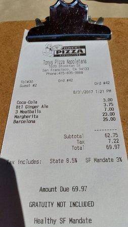 Tony's Pizza Napoletana Picture