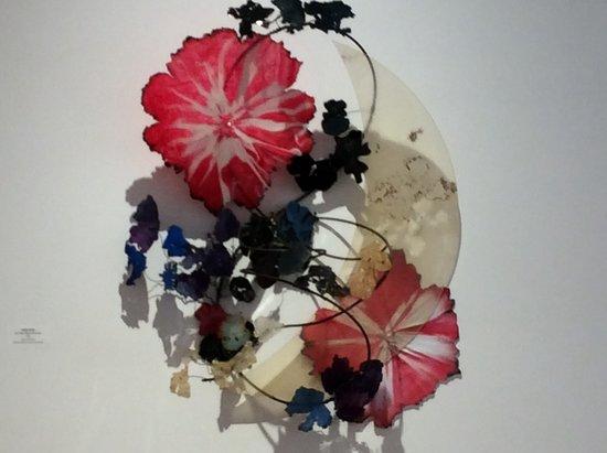 Cornell Art Museum: Glass flower sculpture