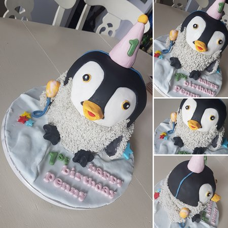 Brilliant Pennys 1St Birthday Penguin Cake Picture Of Franklinsmiths The Funny Birthday Cards Online Aeocydamsfinfo