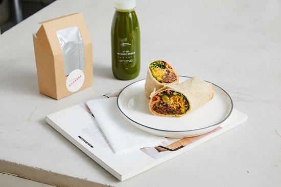 Essence Cuisine: Essence Express: Beetroot Falafel Wrap