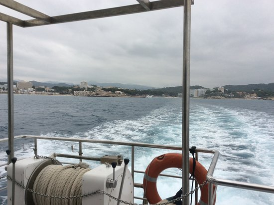 Day at sea with Lunch : Sillage du bateau