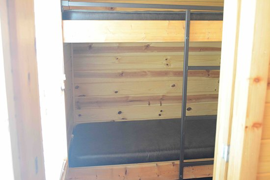 Mount Gilead, OH: Cindy Bear Cabin #3: vinyl mattresses on the bunk beds