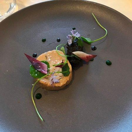 Chorey Les Beaune, Francja: Dodine de filet et foie gras / chutney de pruneaux