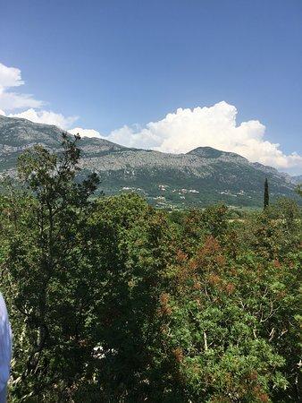 Adventure Park Cadmos Village: View from the highest platform before the last zipline