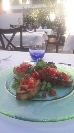 Ristorante Torrese: Bruschetta mit Selbst gemacht Brot