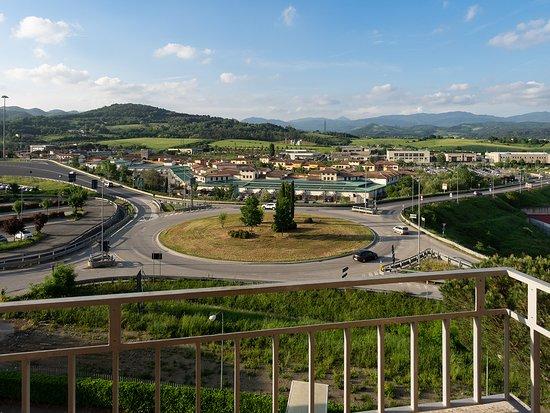 Hotel Barberino: Aussicht erste Nacht