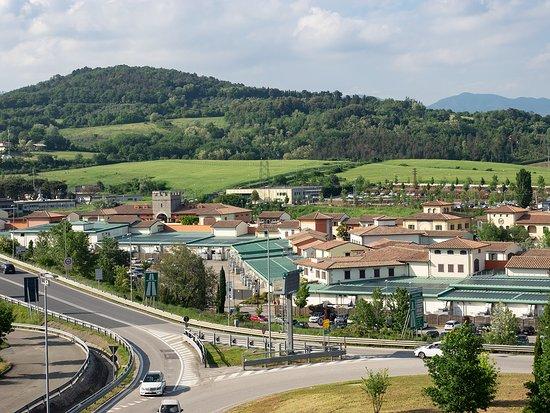 Hotel Barberino: Blick auf das Outlet-Areal Barberino