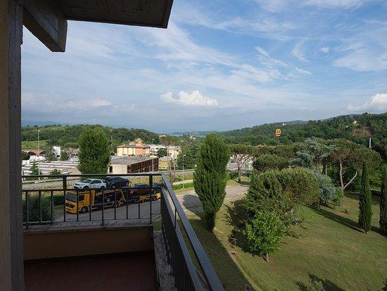 Hotel Barberino: Aussicht zweite Nacht