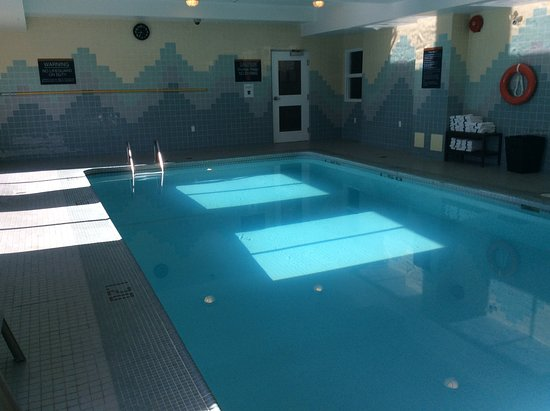 "Sandman Hotel Vancouver Airport: My ""private"" swim pool upon departure."