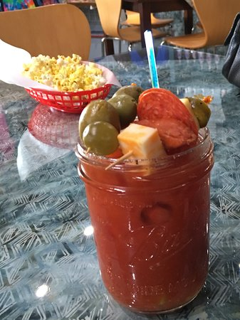 Krooked Tusker Distillery: Bloody Mary made by a customer at our Bloody Mary Bar.