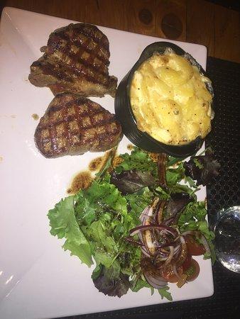 Larger portion of steak