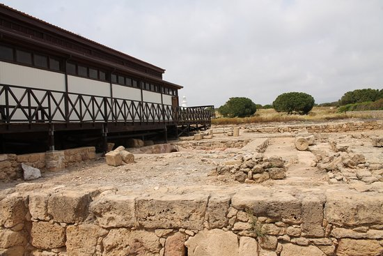 The archaeological excavations near the House of Dionysus
