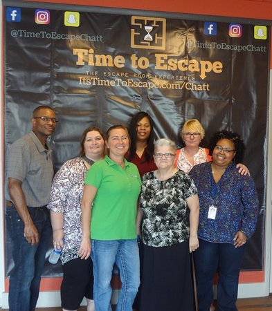 Time to Escape: the Escape Room Experience (Chattanooga): A great group here for a teambuilding event!