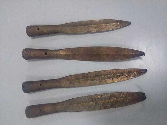 Museum of the History of Alma-Ata: Бронзовые наконечники для копий
