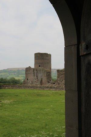 Tretower Castle & Court: view to castle