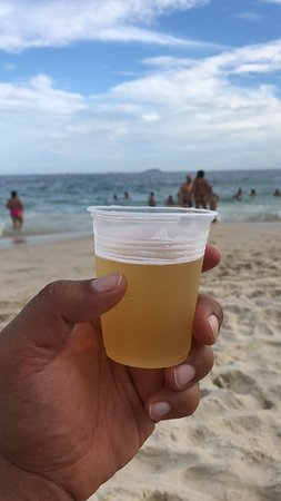 Copacabana Beach: a nice cold one