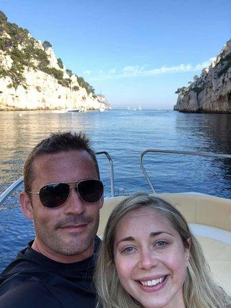 Bleu Evasion : My wife and I enjoying the scenery