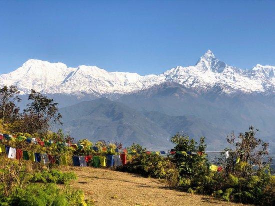 Views from Sarangkot over the Annapurnas