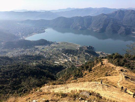Views from Sarangkot over the Phewa Lake